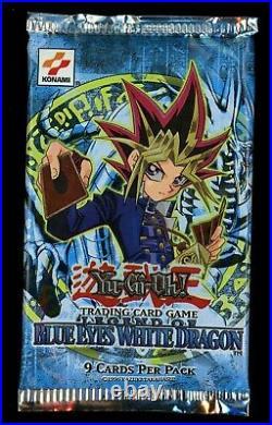 Yugioh Legend of Blue Eyes White Dragon Original Booster Pack (LOB) Konami Logo