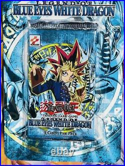 Yugioh Legend of Blue Eyes White Dragon Unlimited Booster Blister Pack Rare
