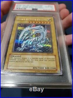 Yugioh PSA 10 DDS-001 Blue-Eyes White Dragon Dark Duel Stories GEM MINT 10