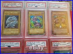 Yugioh PSA 10 Dark Duel Stories Dds-001 Blue-Eyes White Dragon Through Dds-006