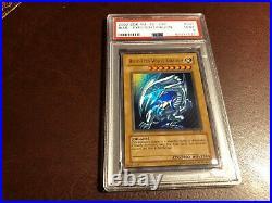 Yugioh PSA 9 Mint Unl Edition BLUE-EYES WHITE DRAGON SDK-001