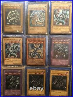 Yugioh collection binder. Blue-Eyes White Dragon, Dark Magician Girl And More